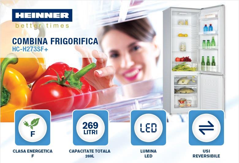 descriere combina frigorifica heinner HC-H273SF+