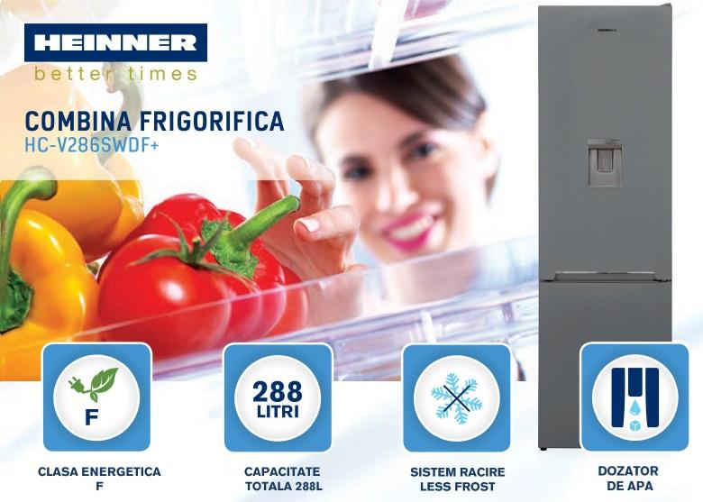 descriere combina frigorifica heinner HC-V268SA+
