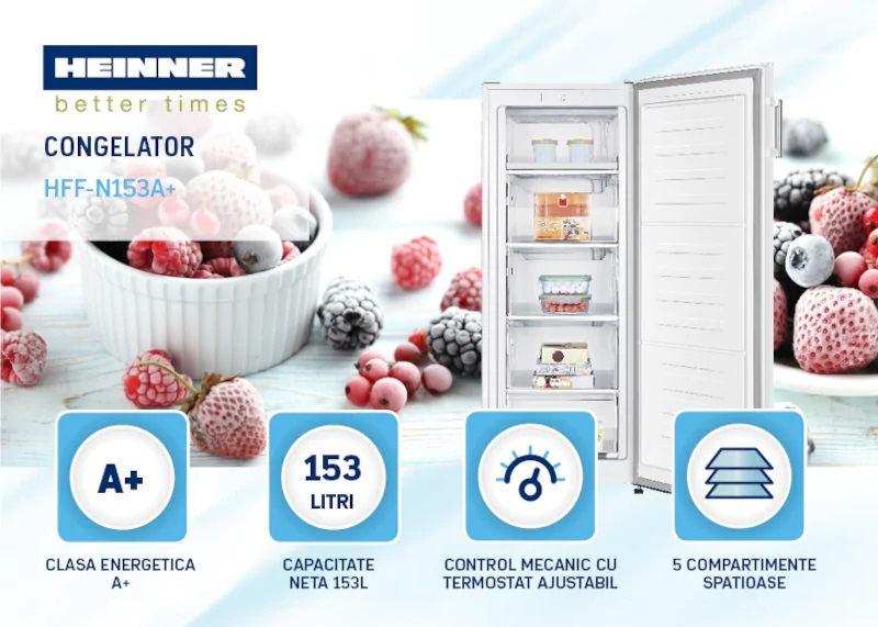descriere Congelator Heinner HFF-N153A+