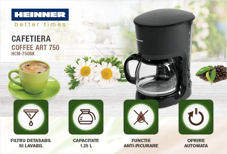 descriere cafetiera HeinnerHCM-750BK