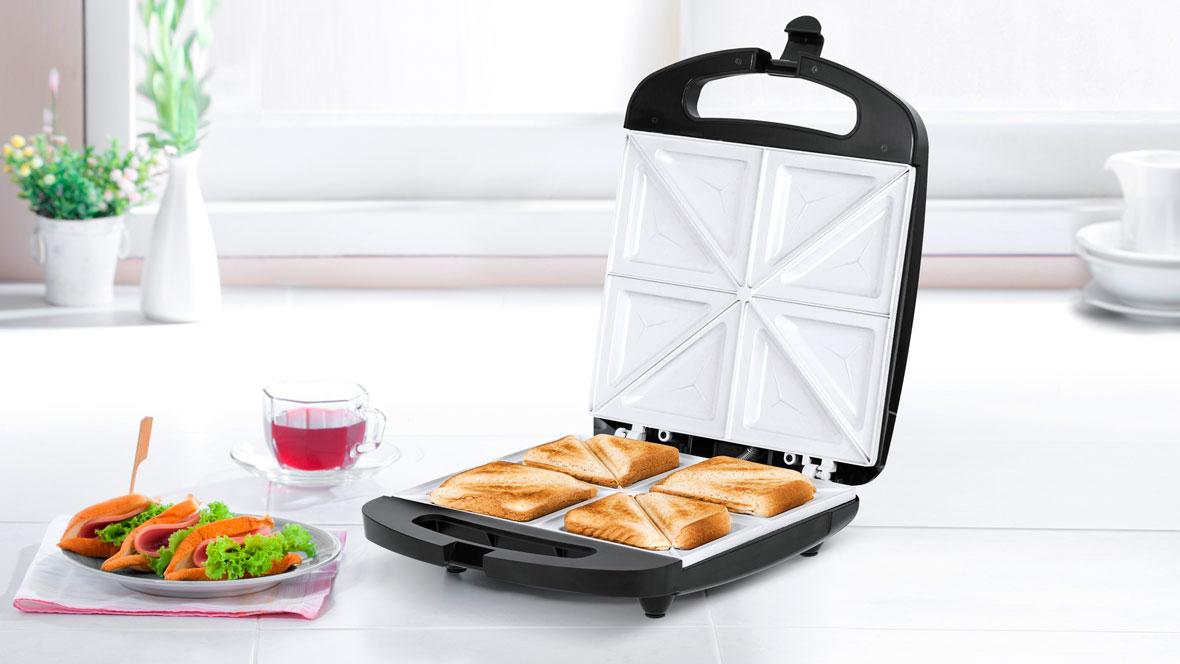 Sandwich maker pentru 4 sandwich-uri TSA3229B