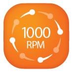 TURATIE MAXIMA 1000 RPM