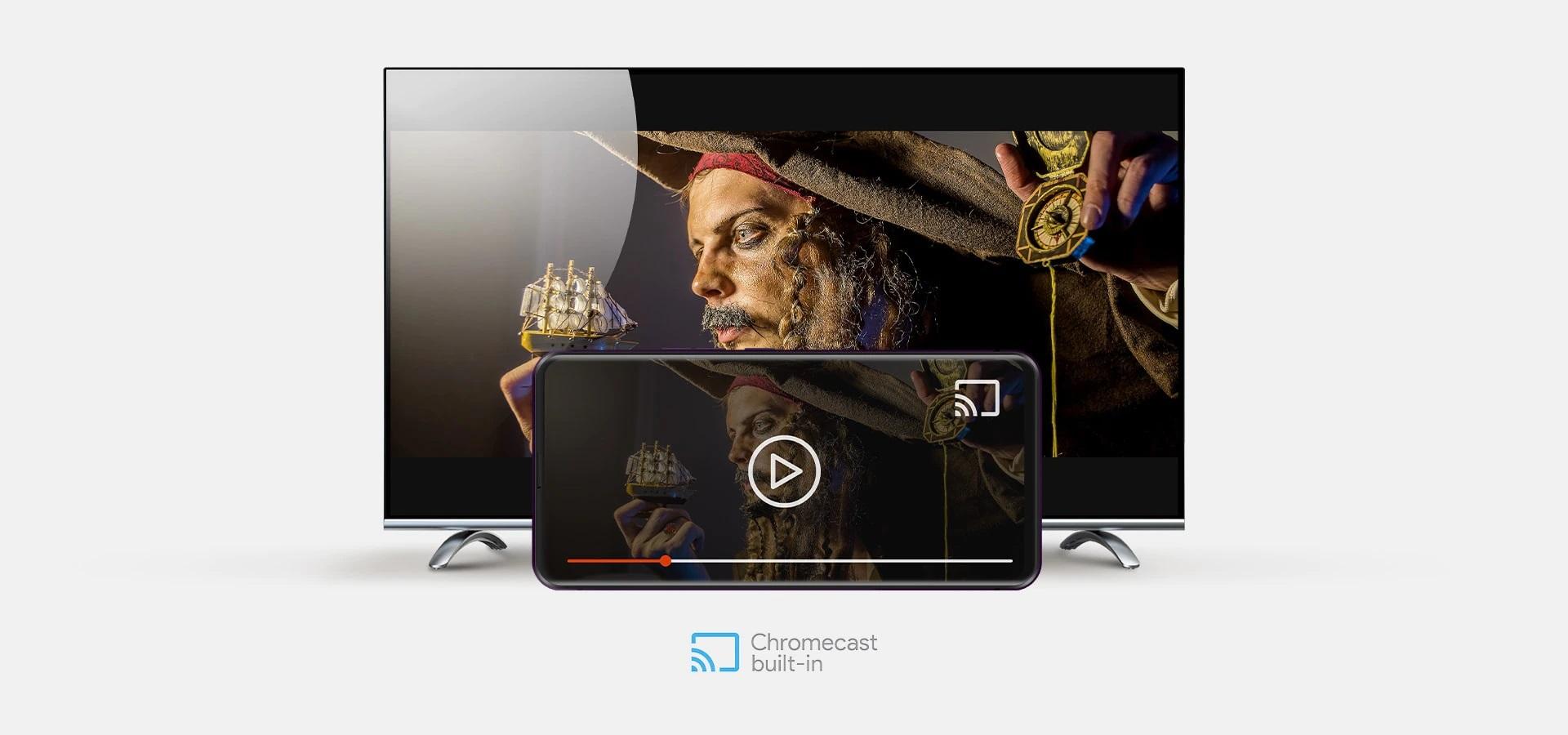 De pe telefon pe televizor, cu Chromecast built-in™
